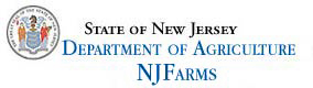 State of New Jersey - Department of Agriculture - NJ Farms header